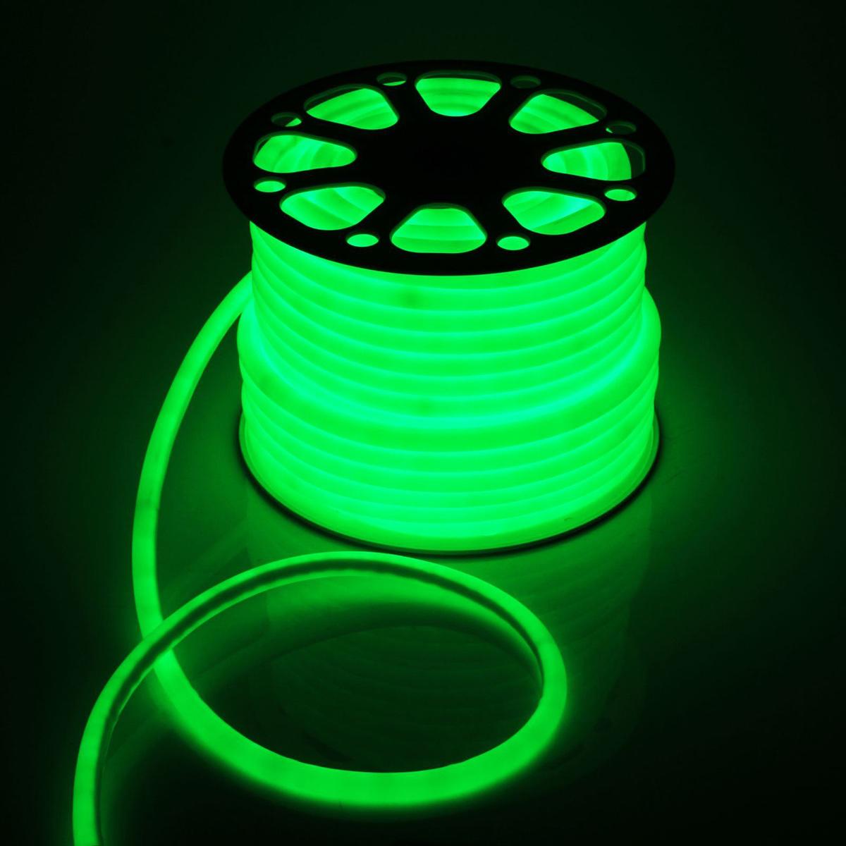 Гирлянда светодиодная Luazon, 120 ламп, 220 V, цвет: зеленый, 1,6 см х 50 м. 14313051431305Светодиодные гирлянды, ленты и т.д — это отличный вариант для новогоднего оформления интерьера или фасада. С их помощью помещение любого размера можно превратить в праздничный зал, а внешние элементы зданий, украшенные ими, мгновенно станут напоминать очертания сказочного дворца. Такие украшения создают ауру предвкушения чуда. Деревья, фасады, витрины, окна и арки будто специально созданы, чтобы вы украсили их светящимися нитями.
