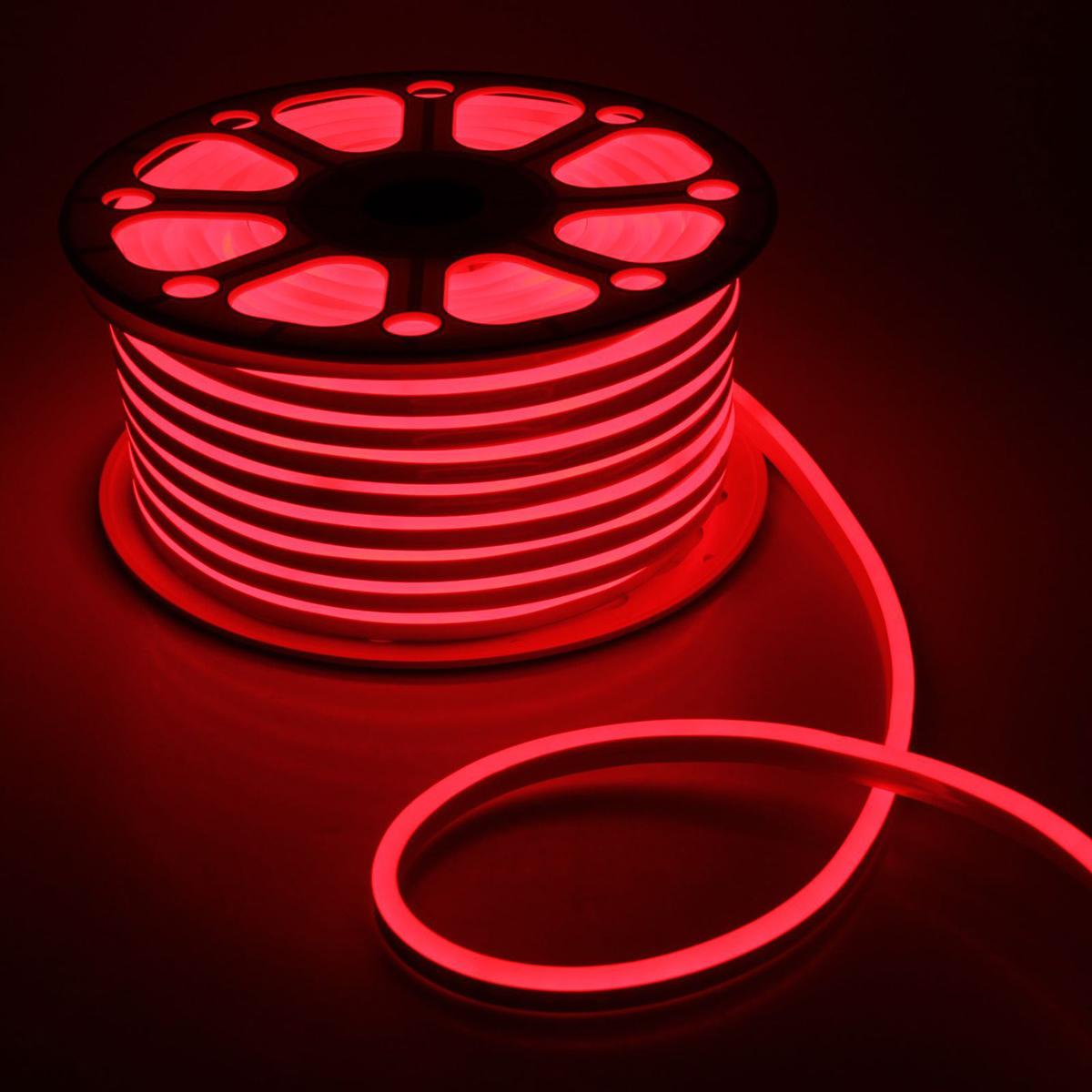 Гирлянда светодиодная Luazon, 120 ламп, 220 V, цвет: красный, 0,8 см х 1,6 см х 50 м. 14312611431261Светодиодные гирлянды, ленты и т.д — это отличный вариант для новогоднего оформления интерьера или фасада. С их помощью помещение любого размера можно превратить в праздничный зал, а внешние элементы зданий, украшенные ими, мгновенно станут напоминать очертания сказочного дворца. Такие украшения создают ауру предвкушения чуда. Деревья, фасады, витрины, окна и арки будто специально созданы, чтобы вы украсили их светящимися нитями.