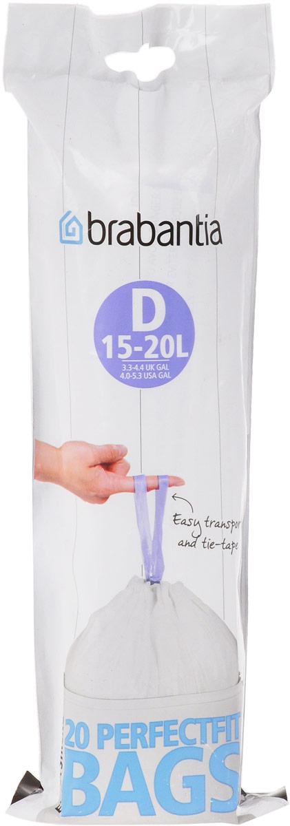 Мешки для мусора Brabantia, 15 л, 20 шт. 246760246760Удобно и быстро вкладываются и достаются из бака.Эстетичный вид – идеально подходят по размеру к мусорным бакам Brabantia, мешок не выступает наружу.Уникальная цветовая маркировка позволяет выбрать мешки нужного размера.Вентиляционные отверстия для удобства вкладывания в бак.Изготовлены из особо прочного полиэтилена (HDPE).Легко затягиваются и переносятся – специальная лента для стягивания горловины.Упаковка: 20 мешков в рулоне.