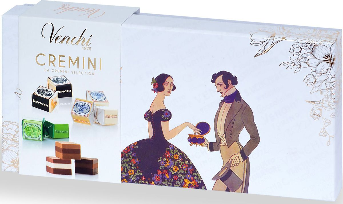 Venchi Cremino набор шоколадных конфет, 260 г chokocat любимой маме открытка с шоколадом 20 г