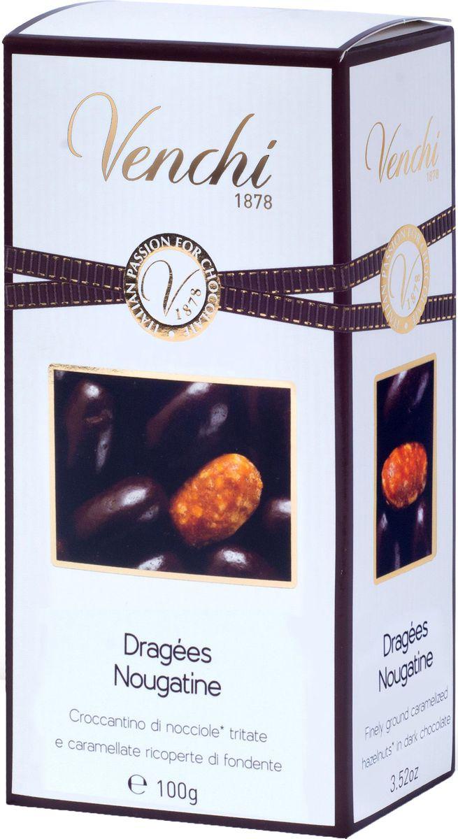 Venchi Dragees Nougatine шоколадные драже, 100 г пудовъ кексики шоколадные 250 г