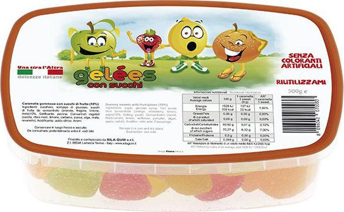 Silagum Желе с фруктовым соком мармелад, 500 г89003Мармелад создан по итальянскому рецепту специально для детей: он гипоаллергенен, не содержит искусственных добавок и красителей.