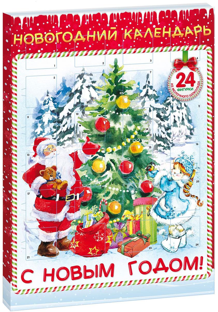 Сладкая Сказка Новогодний календарь Снегурочка, 75 г сладкая сказка печенье дед мороз и снегурочка 400 г