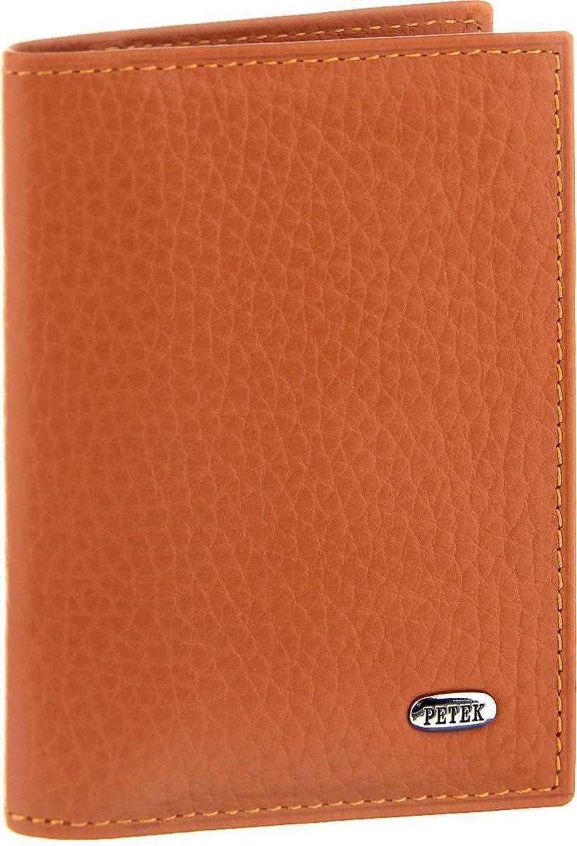 Визитница женская Petek 1855, цвет: оранжевый. 1044.46BD.24 цена