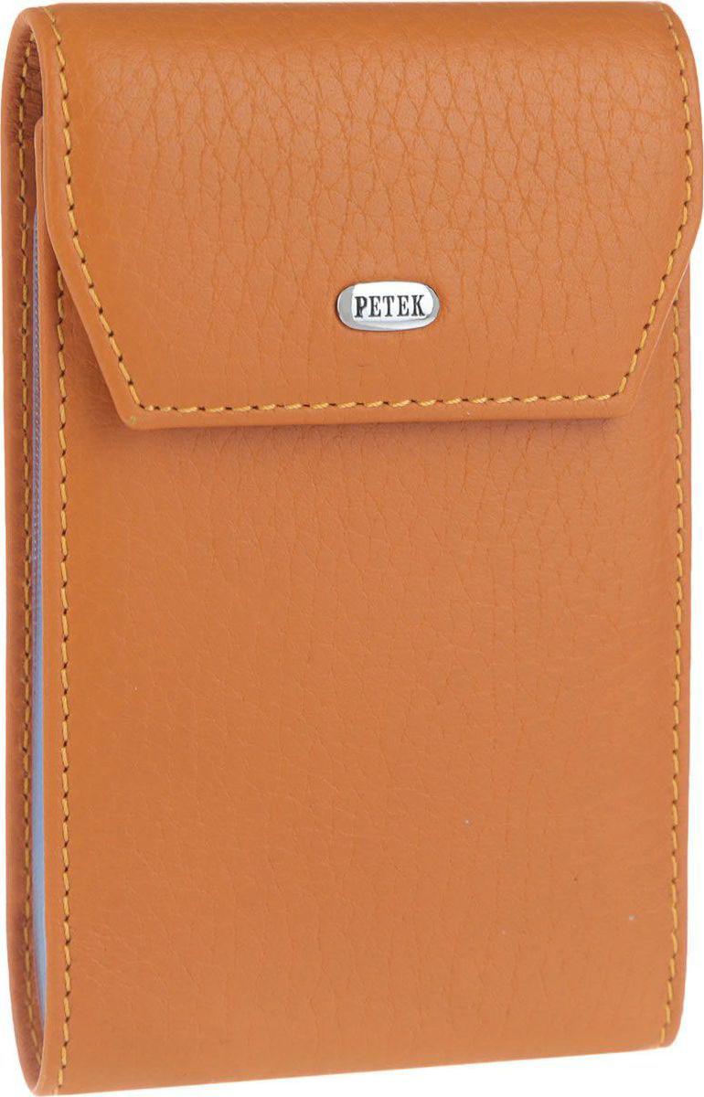 Визитница женская Petek 1855, цвет: оранжевый. 1114.46BD.24 цена