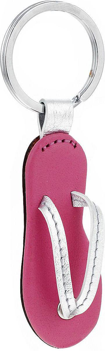 Брелок для ключей Petek 1855 выполнен из натуральной кожи. Изделие оснащено металлическим кольцом.  Такой брелок станет стильным дополнением к ключам.