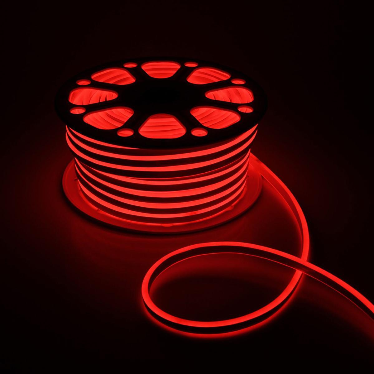 Гирлянда светодиодная Luazon, 120 ламп, 220 V, цвет: красный, 0,8 см х 1,8 см х 50 м. 14312881431288Светодиодные гирлянды, ленты и т.д — это отличный вариант для новогоднего оформления интерьера или фасада. С их помощью помещение любого размера можно превратить в праздничный зал, а внешние элементы зданий, украшенные ими, мгновенно станут напоминать очертания сказочного дворца. Такие украшения создают ауру предвкушения чуда. Деревья, фасады, витрины, окна и арки будто специально созданы, чтобы вы украсили их светящимися нитями.