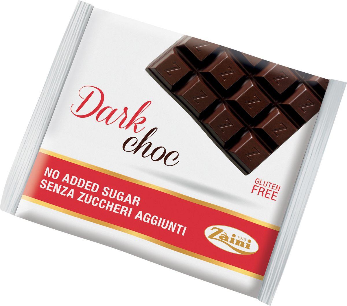 Zaini Dark Choc темный шоколад без сахара, 75 г волшебница золотой орех шоколад темный с миндалем 190 г