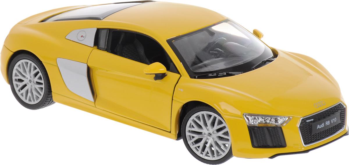 Welly Модель автомобиля Audi R8 V10 цвет желтый автомобиль welly audi r8 v10 1 24 белый 24065