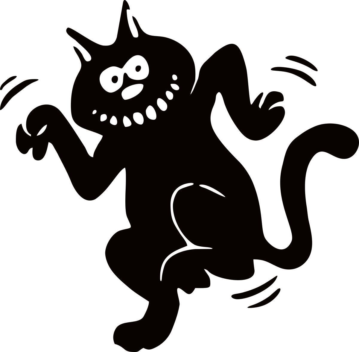 Виниловая наклейка Оранжевый Слоник Танцующий кот, цвет: черный наклейка автомобильная оранжевый слоник кот идиот виниловая цвет черный