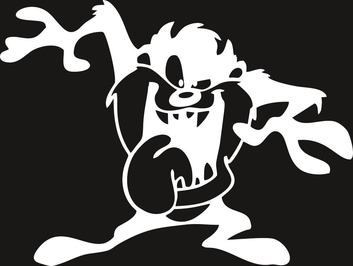 Виниловая наклейка Оранжевый Слоник Тасм Дьявол, цвет: белый150PR00036WНаклейки изготавливаются из долговечного винила, выполняет декоративную функцию. Клеится на стекло или элемент кузова.