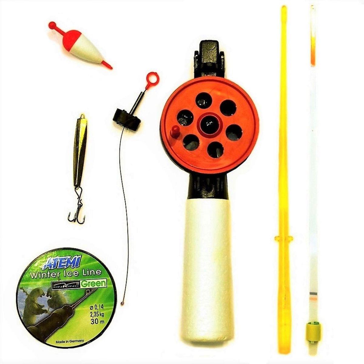 Набор для зимней рыбалки Аляска Любительский, 7 предметов сигнализатор поклевки hoxwell hl57 с пейджером