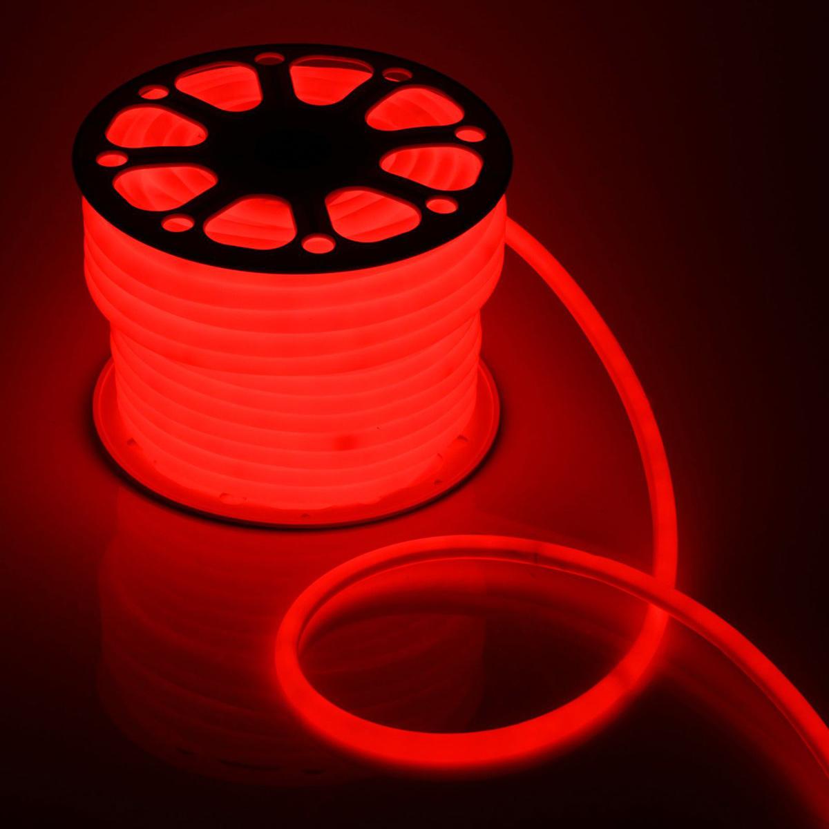 Гирлянда светодиодная Luazon, 120 ламп, 220 V, цвет: красный, 1,6 см х 50 м. 14313041431304Светодиодные гирлянды, ленты и т.д — это отличный вариант для новогоднего оформления интерьера или фасада. С их помощью помещение любого размера можно превратить в праздничный зал, а внешние элементы зданий, украшенные ими, мгновенно станут напоминать очертания сказочного дворца. Такие украшения создают ауру предвкушения чуда. Деревья, фасады, витрины, окна и арки будто специально созданы, чтобы вы украсили их светящимися нитями.