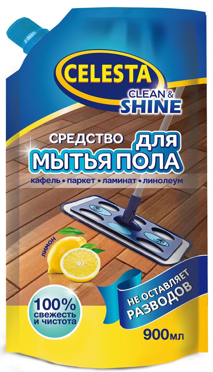 Средство для мытья пола Celesta, с ароматом лимона, 900 мл21367Средство для мытья пола Celesta подходит для мытья любых видов пола, придает блеск, не оставляет разводов, удаляет стойкие загрязнения, не требует смывания.Товар сертифицирован.
