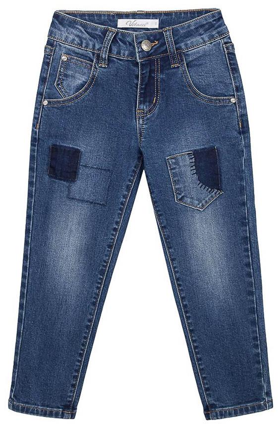 Джинсы для мальчика Vitacci, цвет: синий. 1171201-04. Размер 104 джинсы