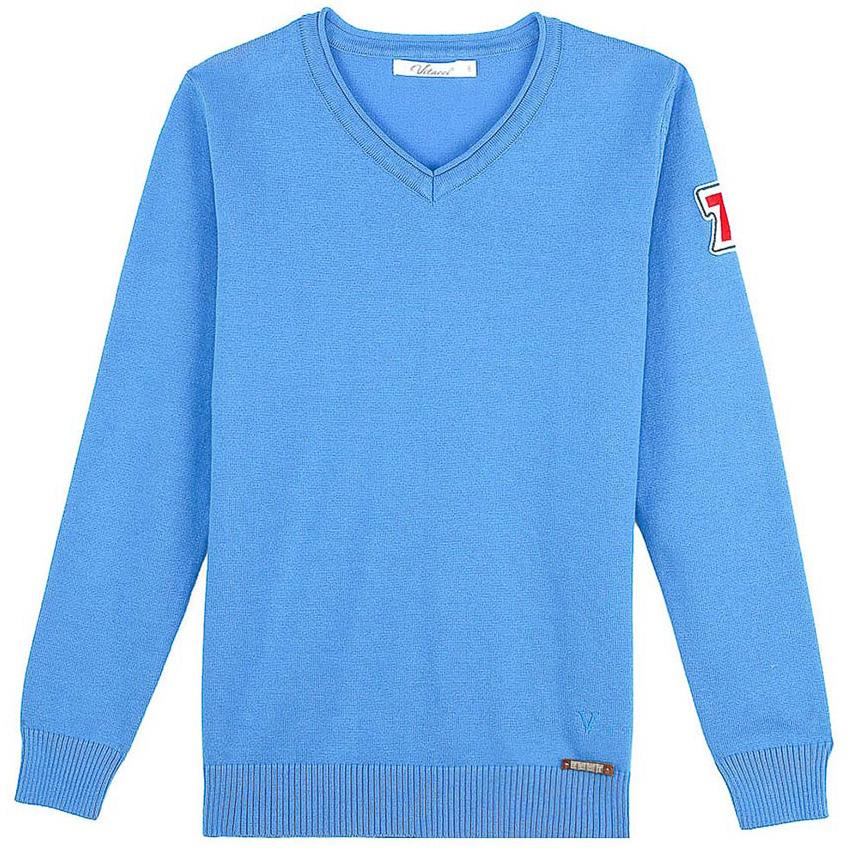 Джемпер для мальчика Vitacci, цвет: голубой. 1171392-10. Размер 1461171392-10