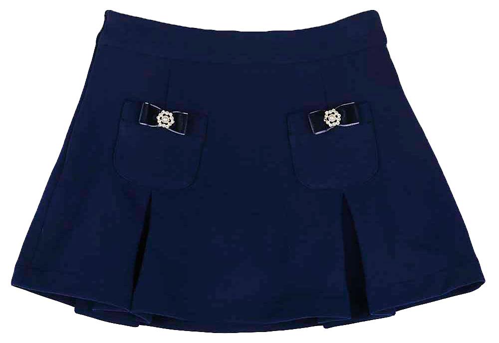Юбка для девочки Vitacci, цвет: синий. 2161020-04. Размер 1162161020-04Юбка для девочки Vitacci подойдет вашей маленькой моднице и станет отличным дополнением к ее гардеробу. Модель, изготовленная из полиэстера, дополнена спереди накладными карманами. Карманы оформлены декоративными бантиками. Модель на поясе имеет широкую резинку, благодаря чему юбка не сползает и не сдавливает животик ребенка.