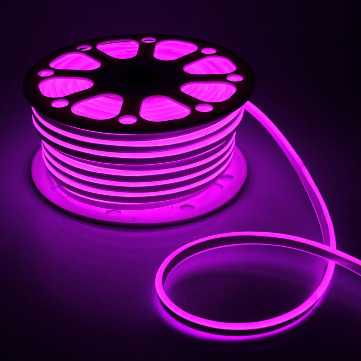 Гирлянда светодиодная Luazon, 120 ламп, 220 V, цвет: розовый, 0,8 см х 1,8 см х 50 м. 14312911431291Светодиодные гирлянды, ленты и т.д — это отличный вариант для новогоднего оформления интерьера или фасада. С их помощью помещение любого размера можно превратить в праздничный зал, а внешние элементы зданий, украшенные ими, мгновенно станут напоминать очертания сказочного дворца. Такие украшения создают ауру предвкушения чуда. Деревья, фасады, витрины, окна и арки будто специально созданы, чтобы вы украсили их светящимися нитями.