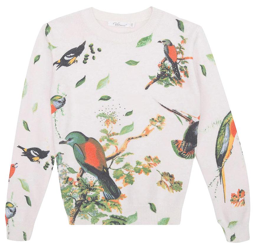 Джемпер для девочки Vitacci, цвет: белый. 2171127-01. Размер 158 свитер для мальчика vitacci цвет черный 1173003 03 размер 158