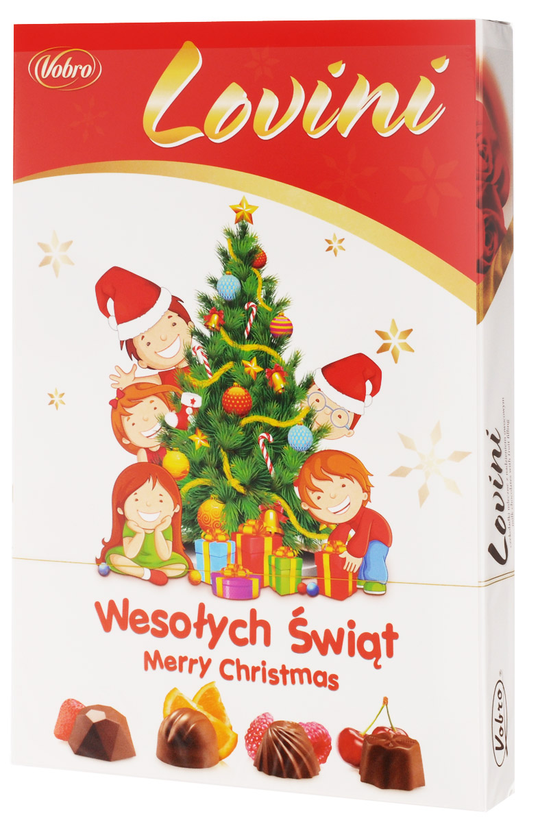 Vobro Lovini набор шоколадных конфет, 170 г коробка для футболок printio чудики