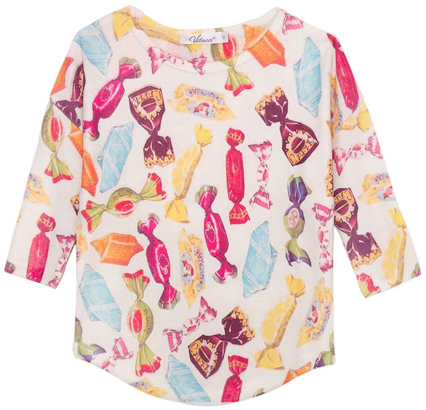 Туника для девочки Vitacci, цвет: мультиколор. 2171345-26. Размер 98 женская одежда