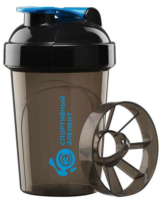 Шейкер спортивный Спортивный элемент Топаз, мини, 500 мл. S02-50000050Стильная бутылка для воды Спортивный элемент Аквамарин изготовлена из нового вида пластика - тритана, который легче и прочнее полипропилена, а выглядит как стекло. Носик бутылки закрывается клапаном, благодаря чему содержимое бутылки не прольется, и дольше останется свежим. Удобная бутылка пригодится как на тренировках, так и в походах или просто на прогулке.Как повысить эффективность тренировок с помощью спортивного питания? Статья OZON Гид
