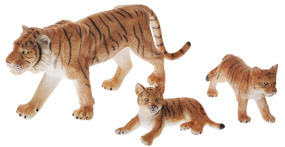 Mojo Набор фигурок Тигр с тигрятами 3 шт - Фигурки