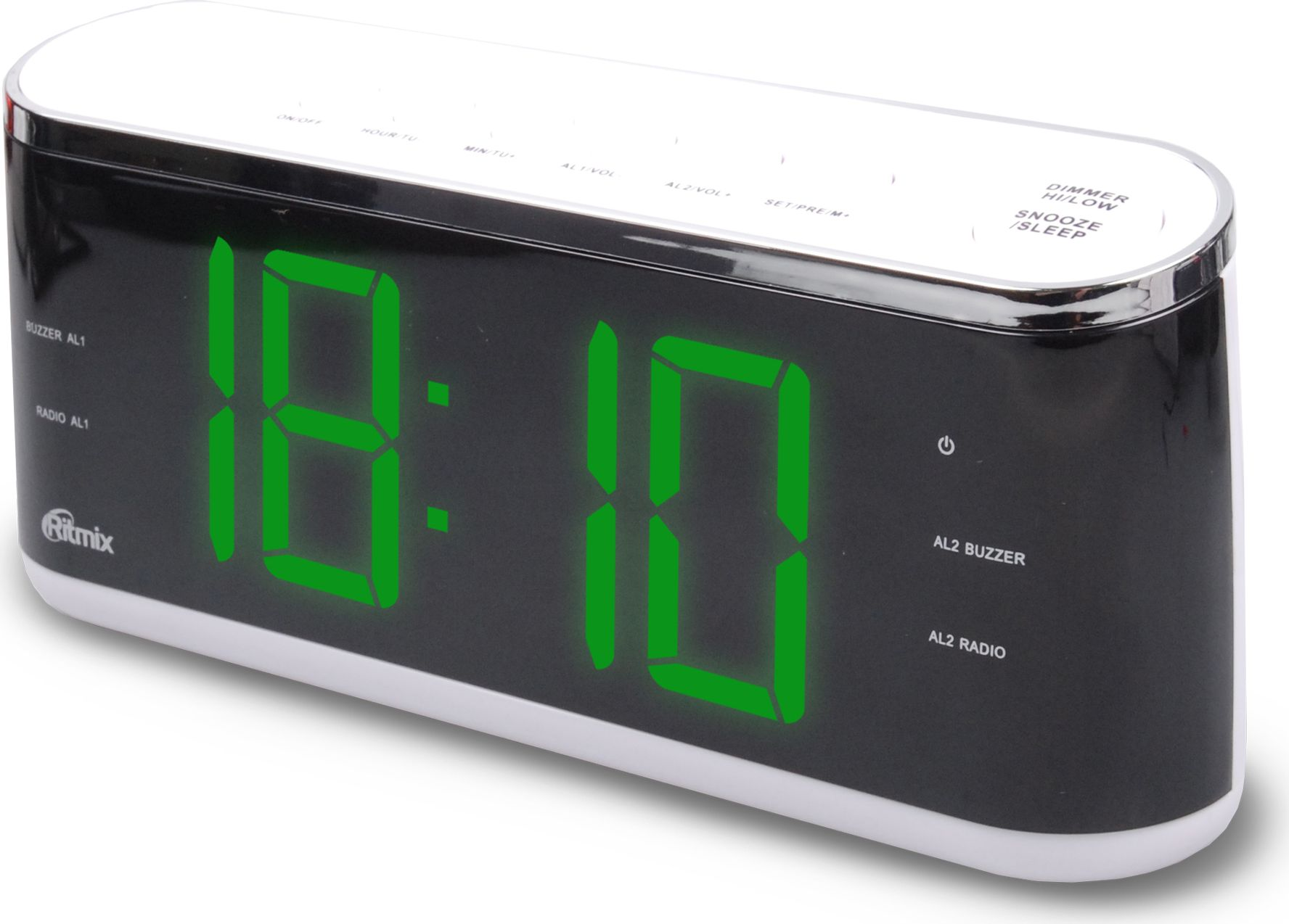 Ritmix RRC-1810, White радио-будильник - Радиобудильники и проекционные часы