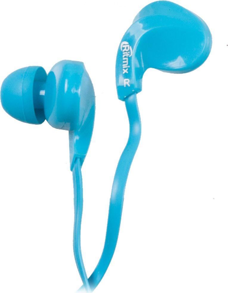 Ritmix RH-025, Blue наушники15119355Ritmix RH-025 - это портативные наушники-вкладыши с плоским кабелем в эргономичном дизайне. Предназначены для использования с телефонами, планшетами и MP3- плеерами. Модель представлена в трёх цветах: чёрном, голубом и белом.