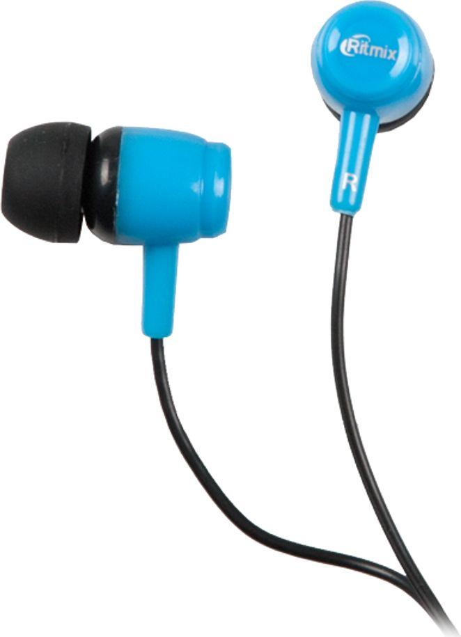 Ritmix RH-020, Black Blue наушники15119357Ritmix RH-020 - это портативные наушники-вкладыши в эргономичном дизайне, предназначенные для использования с телефонами, планшетами и MP3- плеерами. Модель представлена в трёх цветах: чёрном, чёрно-голубом и чёрно-оранжевом.