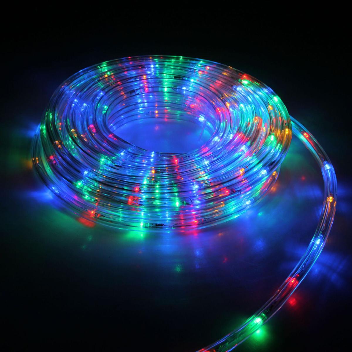 Гирлянда светодиодная Luazon, 240 ламп, 8 режимов, 220 V, цвет: мультиколор, 1 см х 10 м. 15898241589824Светодиодные гирлянды, ленты и т.д — это отличный вариант для новогоднего оформления интерьера или фасада. С их помощью помещение любого размера можно превратить в праздничный зал, а внешние элементы зданий, украшенные ими, мгновенно станут напоминать очертания сказочного дворца. Такие украшения создают ауру предвкушения чуда. Деревья, фасады, витрины, окна и арки будто специально созданы, чтобы вы украсили их светящимися нитями.