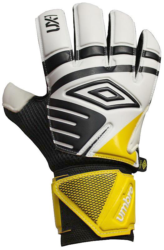 Перчатки вратарские Umbro Ux Precision Glove, цвет: белый, черный, желтый. 20533U. Размер 1020533UПерчатки вратарские Umbro для игроков полупрофессионального уровня. Анатомическая ладонь выполнена из технологичного латекса. Вставки из сетки для вентиляции. Эмбоссированная защита зоны удара.