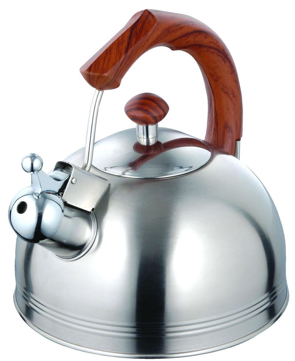 Чайник Irit, со свистком, цвет: серебристый, 3,5 л. IRH-412 гантель в виниловой оболочке 1 кг profi fit форма шестигранник зеленый
