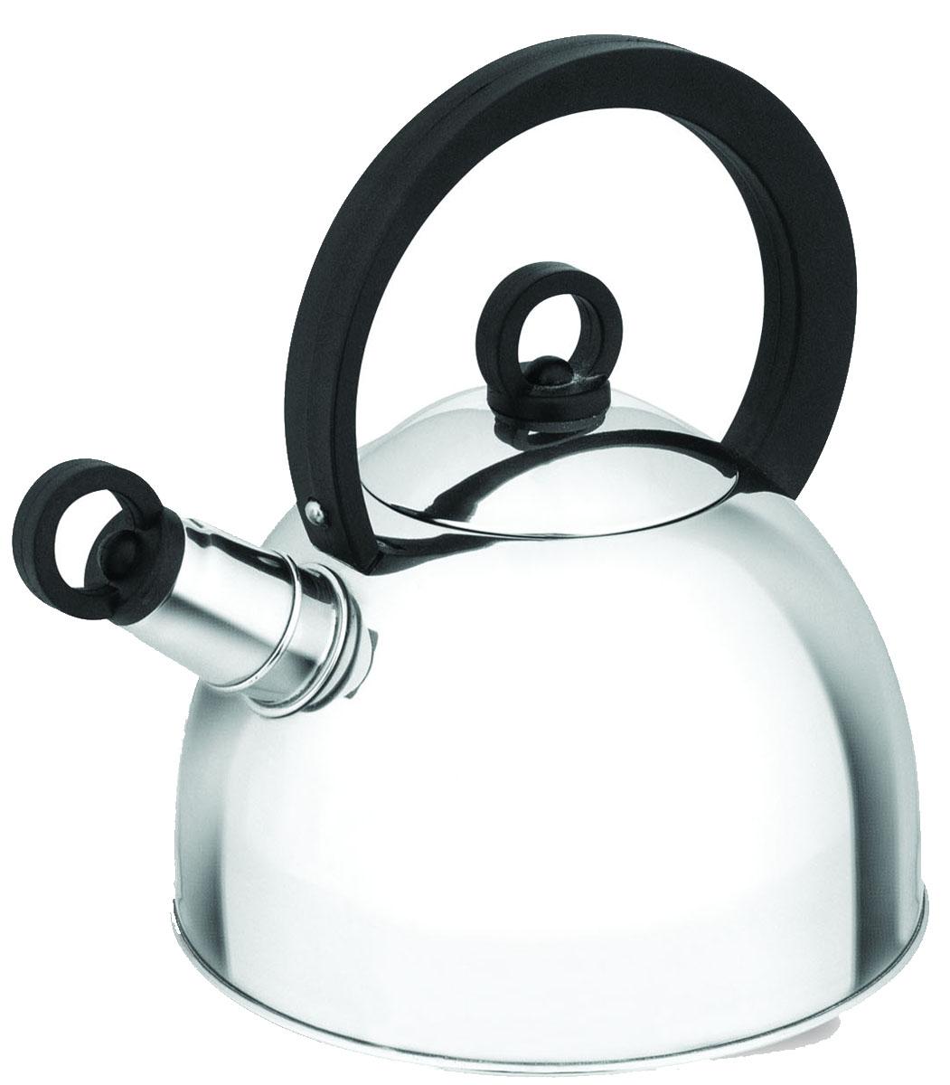 Чайник Irit, со свистком, цвет: серебристый, 2 лIRH-401Чайник из нержавеющей стали Объем 2 л, свисток, неподвижная не нагревающаяся ручка из термостойкого пластика, однослойное дно, полезный объем 1,7 л