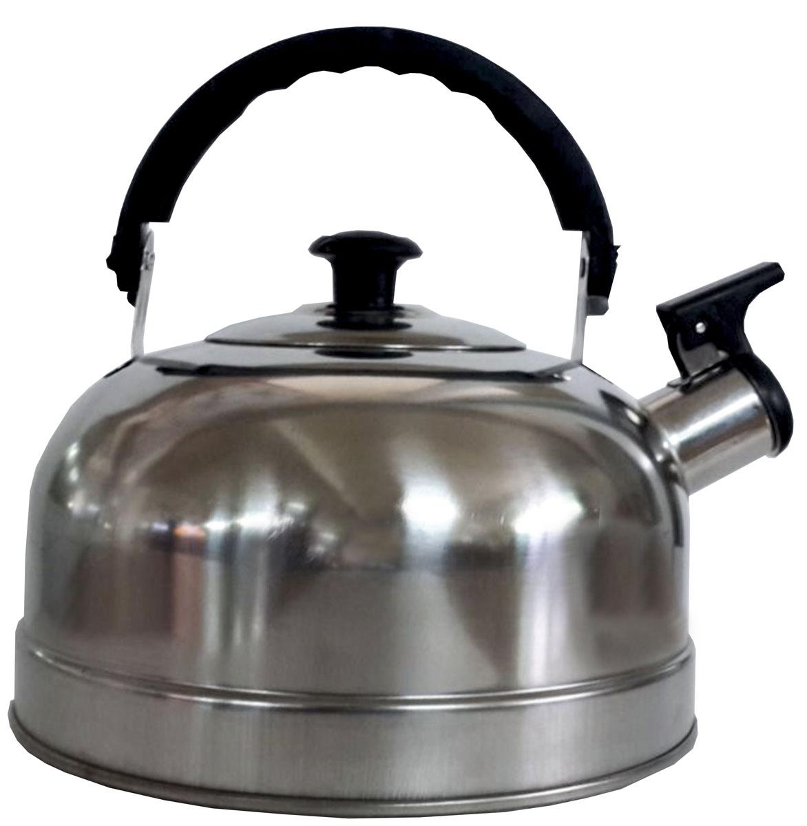 Чайник Irit, со свистком, цвет: серебристый, 1,7 л чайник lumme со свистком цвет золотистый 1 8 л