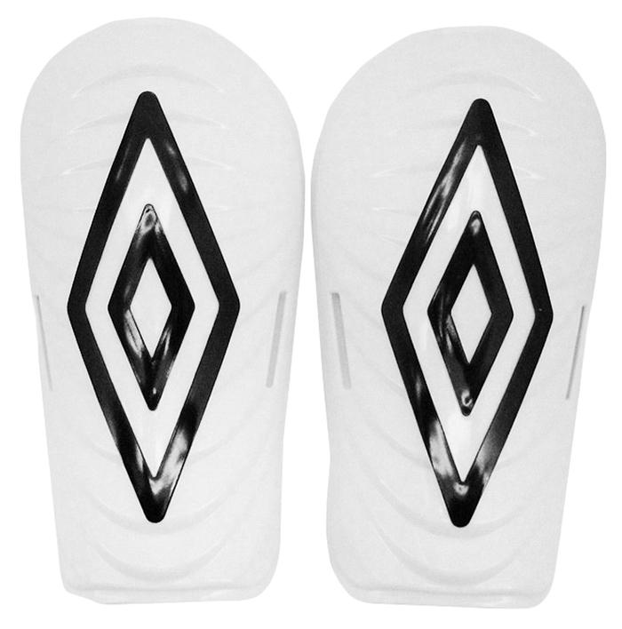 Щитки футбольные Umbro Mini Slip Diamond, цвет: белый, черный. Размер S25044UЩитки футбольные Umbro Mini Slip Diamond. Корпус выполнен из высокопрочного пластика. Мягкая подкладка из ЭВА.