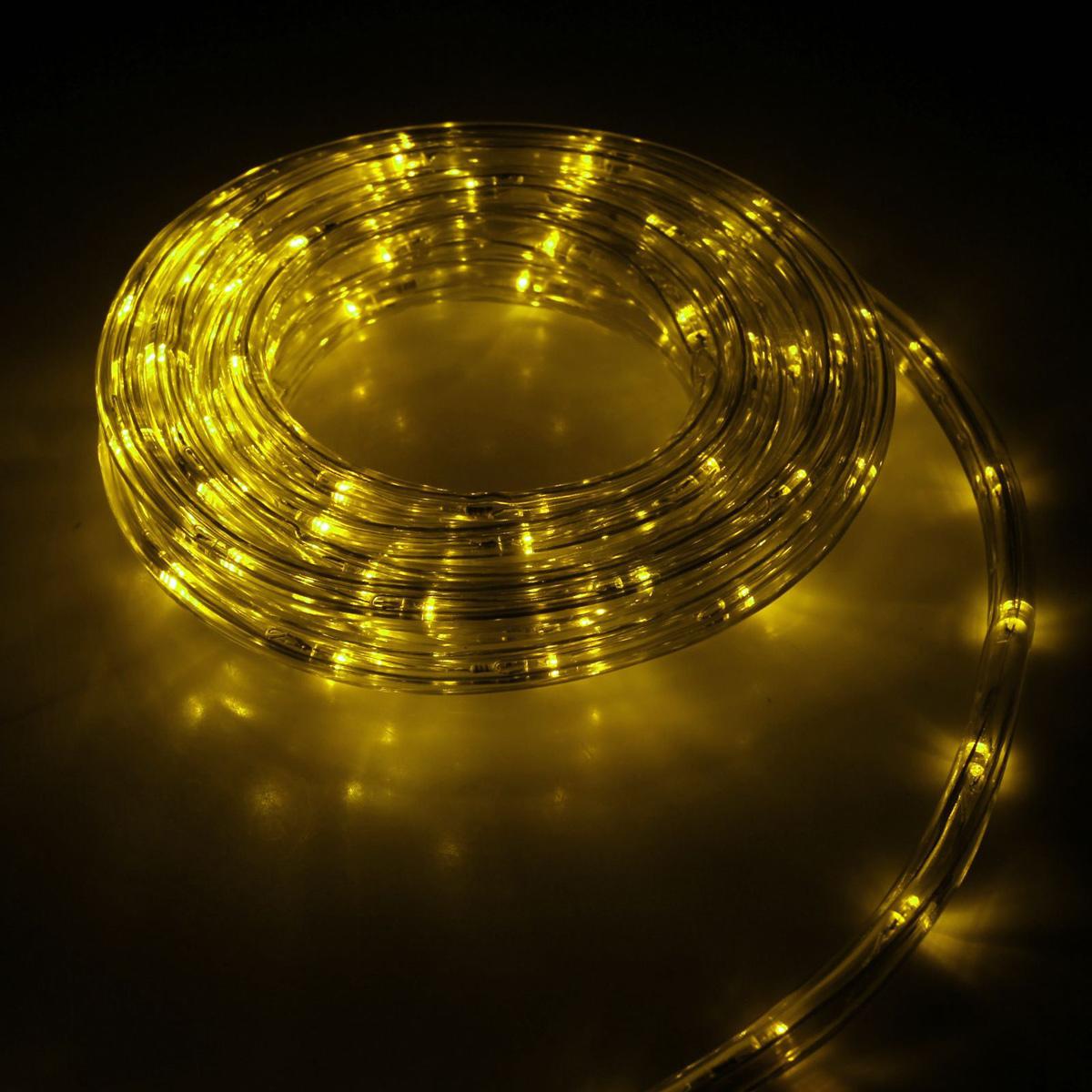 Гирлянда светодиодная Luazon, 440 ламп, 8 режимов, 220 V, цвет: желтый, 1 см х 20 м. 15898371589837Светодиодные гирлянды, ленты и т.д — это отличный вариант для новогоднего оформления интерьера или фасада. С их помощью помещение любого размера можно превратить в праздничный зал, а внешние элементы зданий, украшенные ими, мгновенно станут напоминать очертания сказочного дворца. Такие украшения создают ауру предвкушения чуда. Деревья, фасады, витрины, окна и арки будто специально созданы, чтобы вы украсили их светящимися нитями.