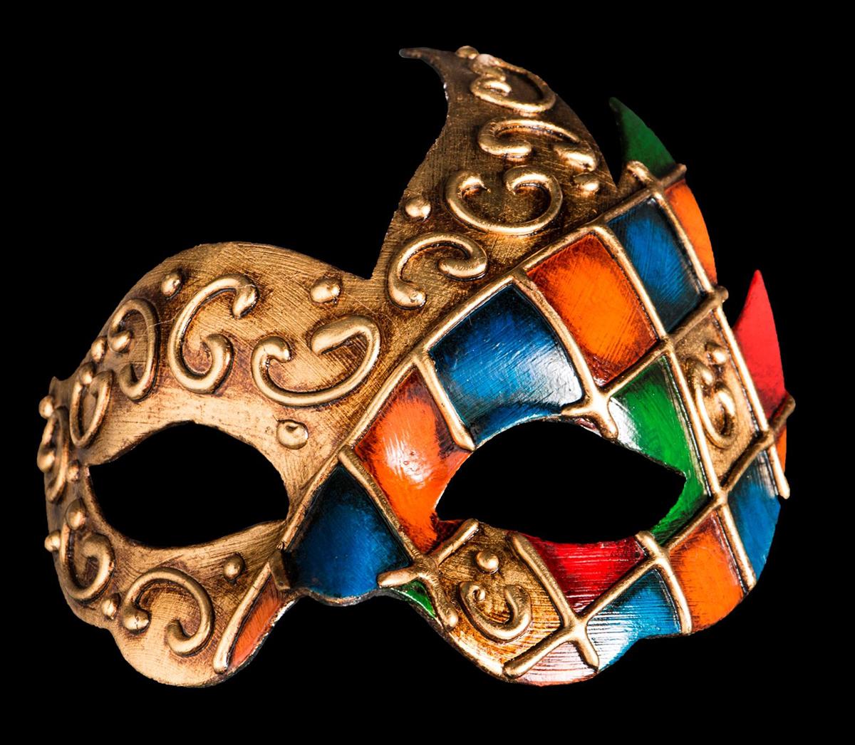 Маска карнавальная Bluemoon Venice  Arlecchino Onda , 10 ? 17 ? 10 см - Маски карнавальные