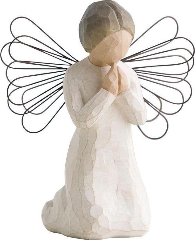 Фигурка Willow Tree Ангел молитвы, высота 10,5 см26012Декоративная фигурка Willow Tree создана канадским скульптором Сьюзан Лорди. Фигурка выполнена из искусственного камня (49% карбонат кальция мелкозернистой разновидности, 51% искусственный камень).Фигурка Willow Tree – это настоящее произведение искусства, образная скульптура в миниатюре, изображающая эмоции и чувства, которые помогают чувствовать себя ближе к другим, верить в мечту, выражать любовь.Фигурка помещена в красивую упаковку.Купить такой оригинальный подарок, значит не только украсить интерьер помещения или жилой комнаты, но выразить свое глубокое отношение к любимому человеку. Этот прекрасный сувенир будет лучшим подарком на день ангела, именины, день рождения, юбилей.