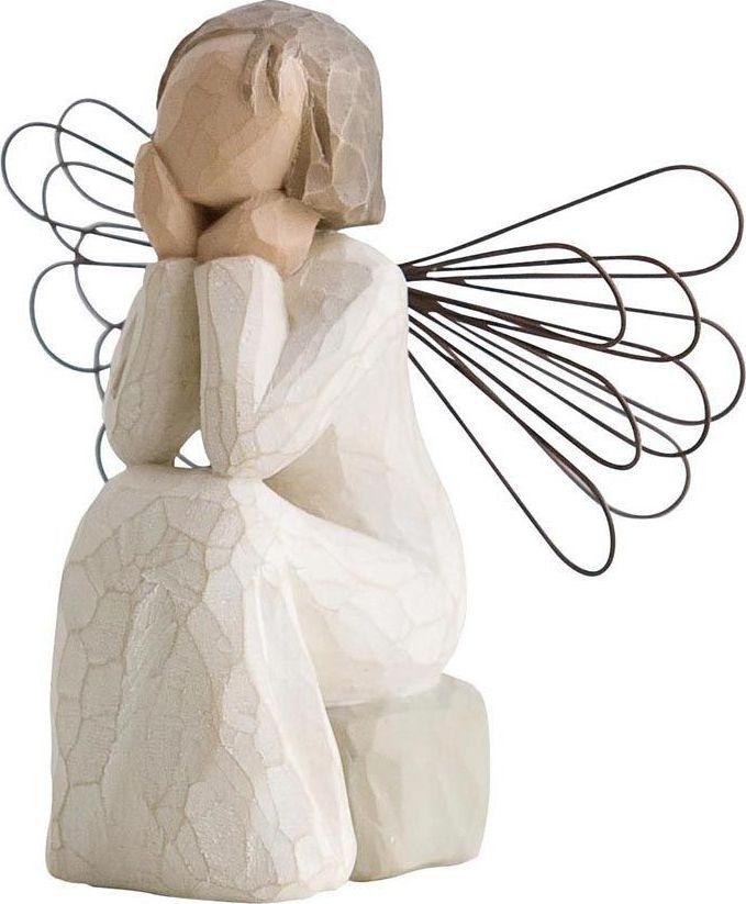 Фигурка Willow Tree Ангел заботы, высота 9,5 см26079Декоративная фигурка Willow Tree создана канадским скульптором Сьюзан Лорди. Фигурка выполнена из искусственного камня (49% карбонат кальция мелкозернистой разновидности, 51% искусственный камень).Фигурка Willow Tree – это настоящее произведение искусства, образная скульптура в миниатюре, изображающая эмоции и чувства, которые помогают чувствовать себя ближе к другим, верить в мечту, выражать любовь.Фигурка помещена в красивую упаковку.Купить такой оригинальный подарок, значит не только украсить интерьер помещения или жилой комнаты, но выразить свое глубокое отношение к любимому человеку. Этот прекрасный сувенир будет лучшим подарком на день ангела, именины, день рождения, юбилей.