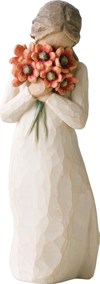 Фигурка Willow Tree Окруженная любовью, высота 13 см26233Декоративная фигурка Willow Tree создана канадским скульптором Сьюзан Лорди. Фигурка выполнена из искусственного камня (49% карбонат кальция мелкозернистой разновидности, 51% искусственный камень).Фигурка Willow Tree – это настоящее произведение искусства, образная скульптура в миниатюре, изображающая эмоции и чувства, которые помогают чувствовать себя ближе к другим, верить в мечту, выражать любовь.Фигурка помещена в красивую упаковку.Купить такой оригинальный подарок, значит не только украсить интерьер помещения или жилой комнаты, но выразить свое глубокое отношение к любимому человеку. Этот прекрасный сувенир будет лучшим подарком на день ангела, именины, день рождения, юбилей.