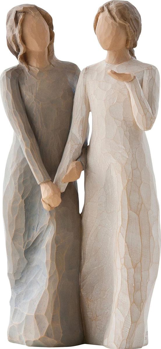 Фигурка Willow Tree Моя сестра - моя подруга, высота 20 см27095Эти прекрасные фигурки созданы канадским скульптором Сьюзан Лорди.Каждая фигурка – это настоящее произведение искусства, образная скульптура в миниатюре, изображающая эмоции и чувства, которые помогают нам чувствовать себя ближе к другим, верить в мечту, выражать любовь. Фигурка помещена в красивую упаковку. Купить такой оригинальный подарок, значит не только украсить интерьер помещения или жилой комнаты, но выразить свое глубокое отношение к любимому человеку. Этот прекрасный сувенир будет лучшим подарком на день ангела, именины, день рождения, юбилей.