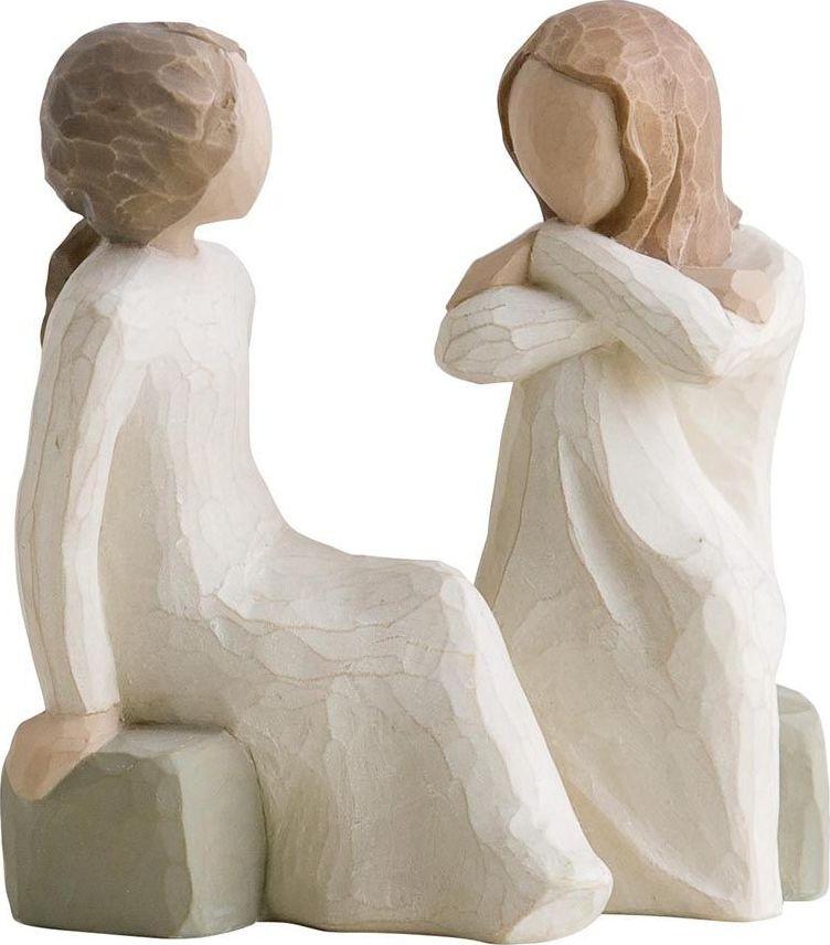 Фигурка Willow Tree Сердце и душа, высота 11,5 см26099Декоративная фигурка Willow Tree создана канадским скульптором Сьюзан Лорди. Фигурка выполнена из искусственного камня (49% карбонат кальция мелкозернистой разновидности, 51% искусственный камень).Фигурка Willow Tree – это настоящее произведение искусства, образная скульптура в миниатюре, изображающая эмоции и чувства, которые помогают чувствовать себя ближе к другим, верить в мечту, выражать любовь.Фигурка помещена в красивую упаковку.Купить такой оригинальный подарок, значит не только украсить интерьер помещения или жилой комнаты, но выразить свое глубокое отношение к любимому человеку. Этот прекрасный сувенир будет лучшим подарком на день ангела, именины, день рождения, юбилей.