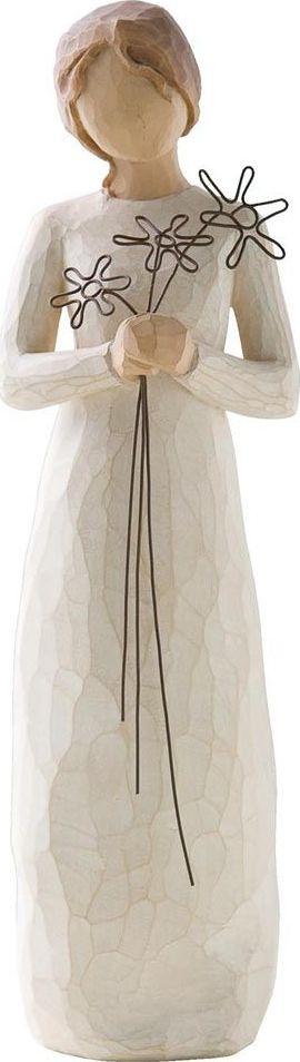Фигурка Willow Tree Благодарная, высота 22,5 см26147Декоративная фигурка Willow Tree создана канадским скульптором Сьюзан Лорди. Фигурка выполнена из искусственного камня (49% карбонат кальция мелкозернистой разновидности, 51% искусственный камень).Фигурка Willow Tree – это настоящее произведение искусства, образная скульптура в миниатюре, изображающая эмоции и чувства, которые помогают чувствовать себя ближе к другим, верить в мечту, выражать любовь.Фигурка помещена в красивую упаковку.Купить такой оригинальный подарок, значит не только украсить интерьер помещения или жилой комнаты, но выразить свое глубокое отношение к любимому человеку. Этот прекрасный сувенир будет лучшим подарком на день ангела, именины, день рождения, юбилей.