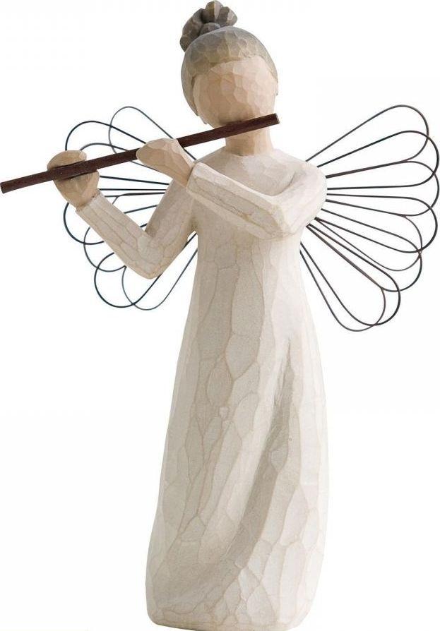 Фигурка Willow Tree Ангел гармонии, высота 14 см26083Декоративная фигурка Willow Tree создана канадским скульптором Сьюзан Лорди. Фигурка выполнена из искусственного камня (49% карбонат кальция мелкозернистой разновидности, 51% искусственный камень).Фигурка Willow Tree - это настоящее произведение искусства, образная скульптура в миниатюре, изображающая эмоции и чувства, которые помогают чувствовать себя ближе к другим, верить в мечту, выражать любовь.Фигурка помещена в красивую упаковку.Купить такой оригинальный подарок, значит не только украсить интерьер помещения или жилой комнаты, но выразить свое глубокое отношение к любимому человеку. Этот прекрасный сувенир будет лучшим подарком на день ангела, именины, день рождения, юбилей.