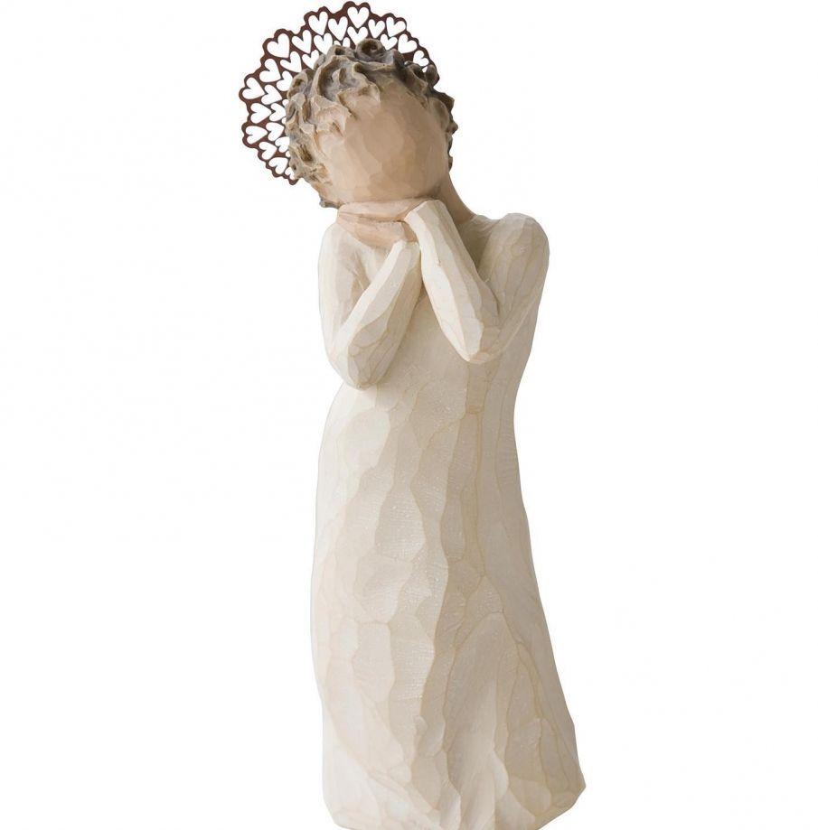 Фигурка Willow Tree Ангел любви, высота 13 см26234Декоративная фигурка Willow Tree создана канадским скульптором Сьюзан Лорди. Фигурка выполнена из искусственного камня (49% карбонат кальция мелкозернистой разновидности, 51% искусственный камень).Фигурка Willow Tree – это настоящее произведение искусства, образная скульптура в миниатюре, изображающая эмоции и чувства, которые помогают чувствовать себя ближе к другим, верить в мечту, выражать любовь.Фигурка помещена в красивую упаковку.Купить такой оригинальный подарок, значит не только украсить интерьер помещения или жилой комнаты, но выразить свое глубокое отношение к любимому человеку. Этот прекрасный сувенир будет лучшим подарком на день ангела, именины, день рождения, юбилей.