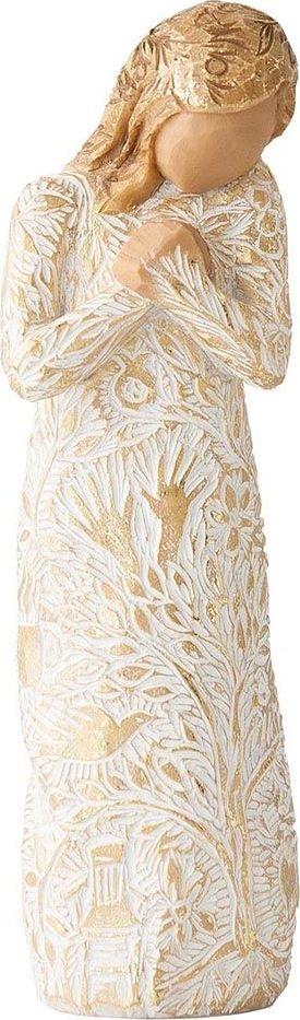 Фигурка Willow Tree Гобелен, высота 12,5 см27536Декоративная фигурка Willow Tree создана канадским скульптором Сьюзан Лорди. Фигурка выполнена из искусственного камня (49% карбонат кальция мелкозернистой разновидности, 51% искусственный камень).Фигурка Willow Tree – это настоящее произведение искусства, образная скульптура в миниатюре, изображающая эмоции и чувства, которые помогают чувствовать себя ближе к другим, верить в мечту, выражать любовь.Фигурка помещена в красивую упаковку.Купить такой оригинальный подарок, значит не только украсить интерьер помещения или жилой комнаты, но выразить свое глубокое отношение к любимому человеку. Этот прекрасный сувенир будет лучшим подарком на день ангела, именины, день рождения, юбилей.