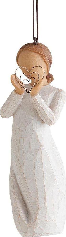 Фигурка с подвеской Willow Tree С любовью, высота 11 см27576Декоративная фигурка Willow Tree создана канадским скульптором Сьюзан Лорди. Фигурка выполнена из искусственного камня (49% карбонат кальция мелкозернистой разновидности, 51% искусственный камень).Фигурка Willow Tree – это настоящее произведение искусства, образная скульптура в миниатюре, изображающая эмоции и чувства, которые помогают чувствовать себя ближе к другим, верить в мечту, выражать любовь.Фигурка помещена в красивую упаковку.Купить такой оригинальный подарок, значит не только украсить интерьер помещения или жилой комнаты, но выразить свое глубокое отношение к любимому человеку. Этот прекрасный сувенир будет лучшим подарком на день ангела, именины, день рождения, юбилей.