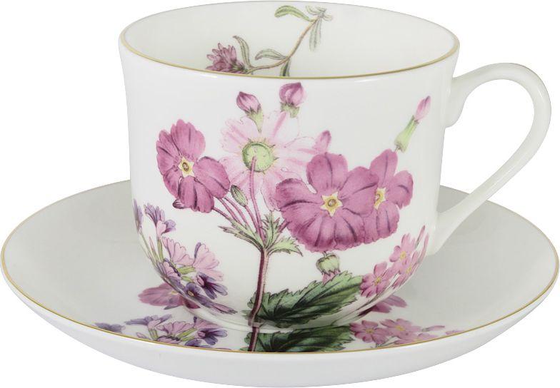Чайная пара Anna Lafarg Stechcol Лаура, цвет: розовый, 450 мл, 2 предмета