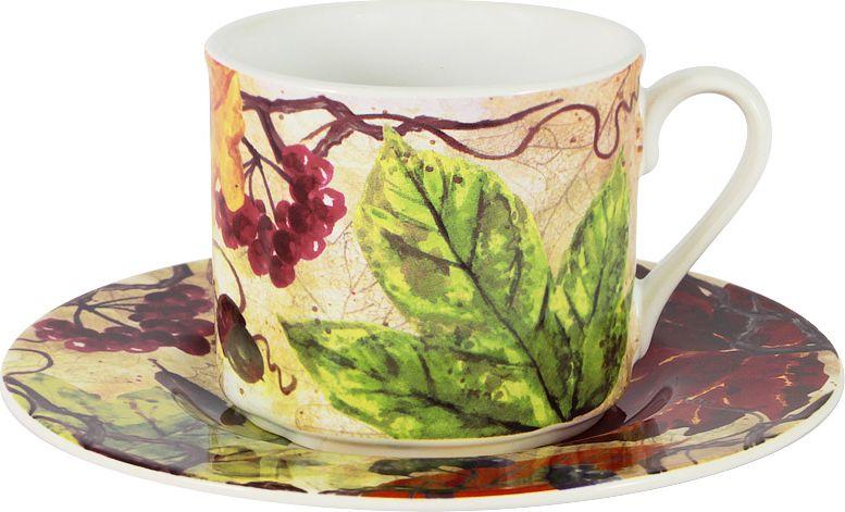 """Чайная пара Imari """"Кленовый лист"""" состоит из чашки и блюдца. Оригинальный  дизайн, несомненно, придется вам по вкусу. Чайная пара Imari """"Кленовый  лист"""" украсит ваш кухонный стол, а также станет замечательным подарком к  любому празднику."""